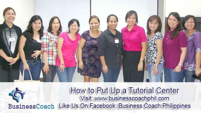 How to Put Up a Tutorial Center  (3)