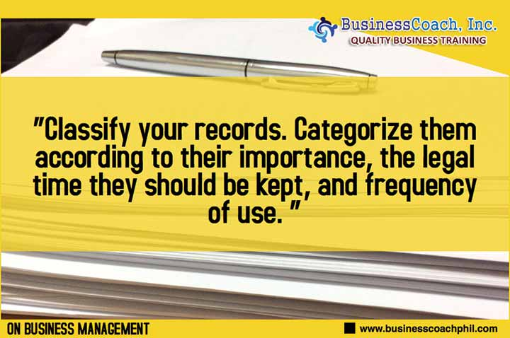 How To Organize Your Company Records